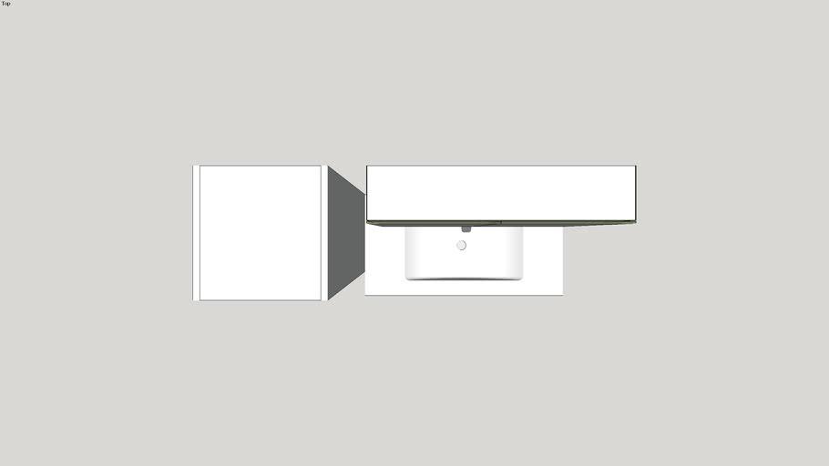 Wastafelmeubel wavedesign by Wisa
