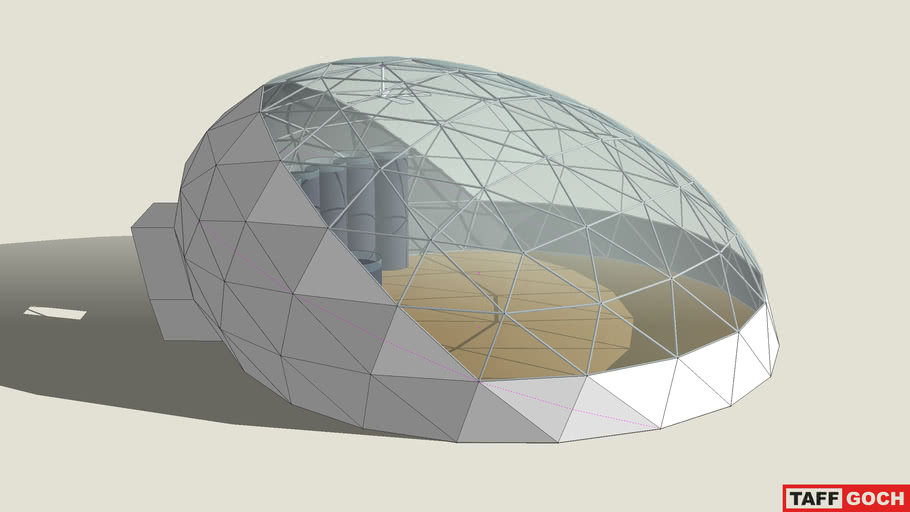 Greenhouse  • Inclined Oblate Geodesic Dome