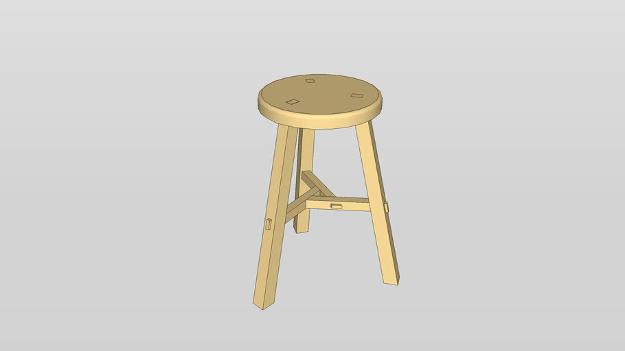 Chinese Stool from Woodworking Magazine Winter 2009 Issue