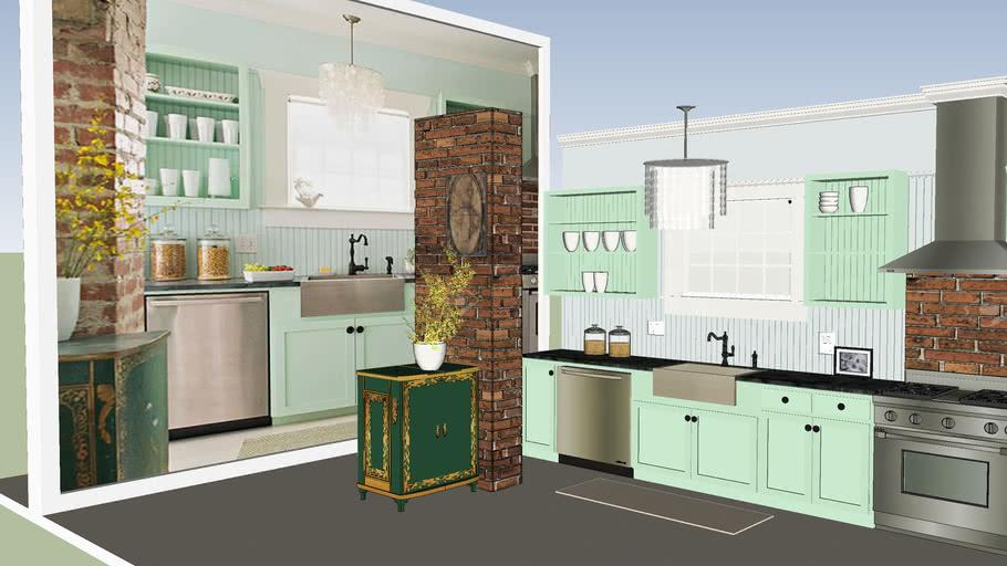 Modern Vintage Kitchen - Cocina Vintage Moderno