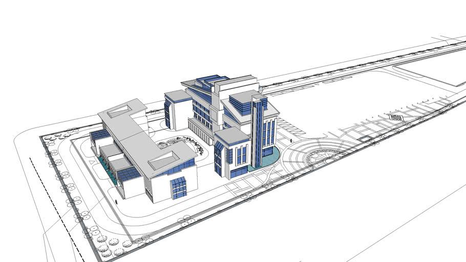 6层办公楼与三层会所