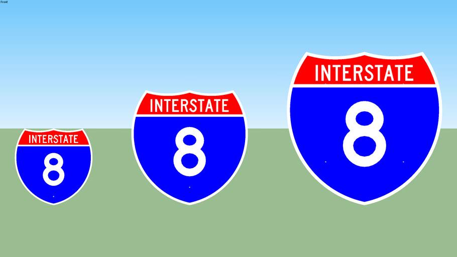 Interstate 8 Sign