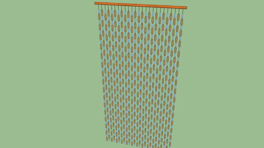 Translucent Bead Curtain Door 3d, Beaded Curtains For Doors