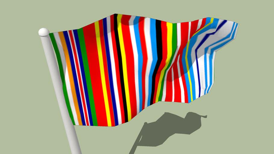 EU-15 2001 barcode logo flag - by Rem Koolhaas/AMO