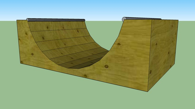 Skate Board Ramp >> Skateboard Ramp 3d Warehouse