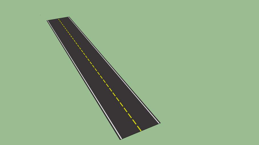 rua asfaltada com faixa central