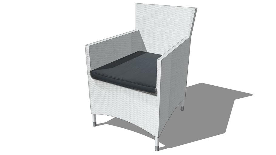 fauteuil ANTIBES blanc, Maisons du monde. Réf: 121795 prix 139€
