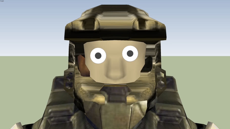 Master Chief's real face!