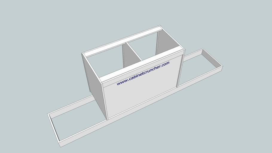 CabinetCRUNCHER Example 16 - Cabinet on Ladder Base, Dado Back