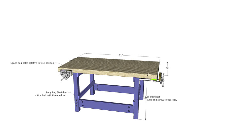 TxRx Labs Woodshop Workbench