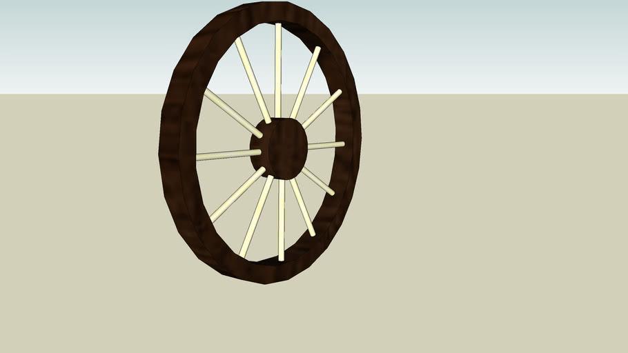 A wagon wheel