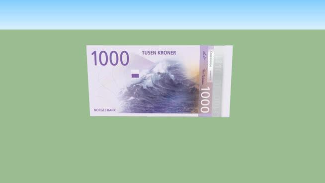 One thousand Norwegian kroner - 1000 kr