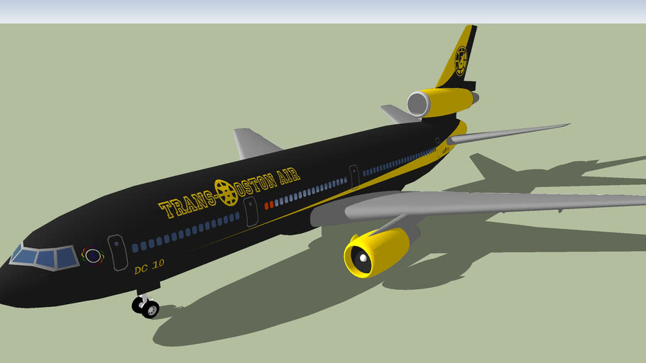 Trans Boston Air DC10 10 (2012) [FICTIONAL] Stylised