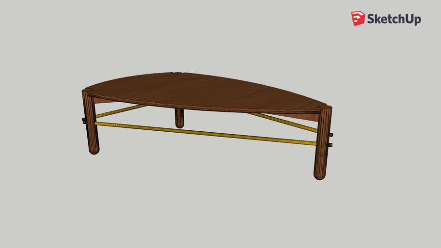 Corcovado mesa de centro alta
