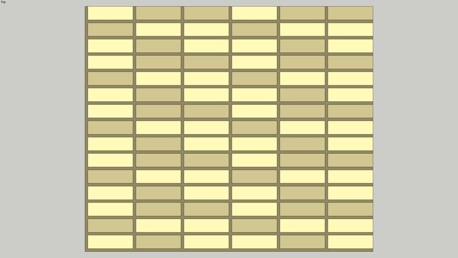 Pastilha JAZZ RET GOLD, de metal/aço inox, LUZZO REVESTIMENTOS