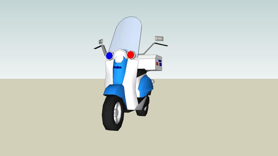 police scooter/bike