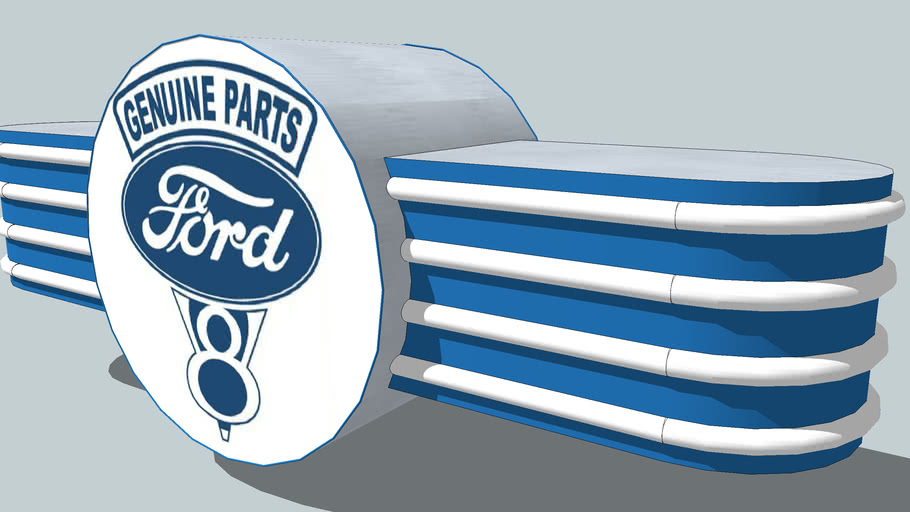 Classic Ford Genuine Parts Sign