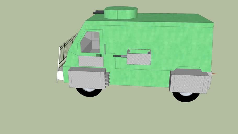 unfinished zombie slaying van