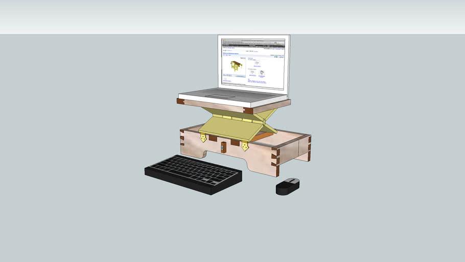 Laptop support using Roubo hinge design