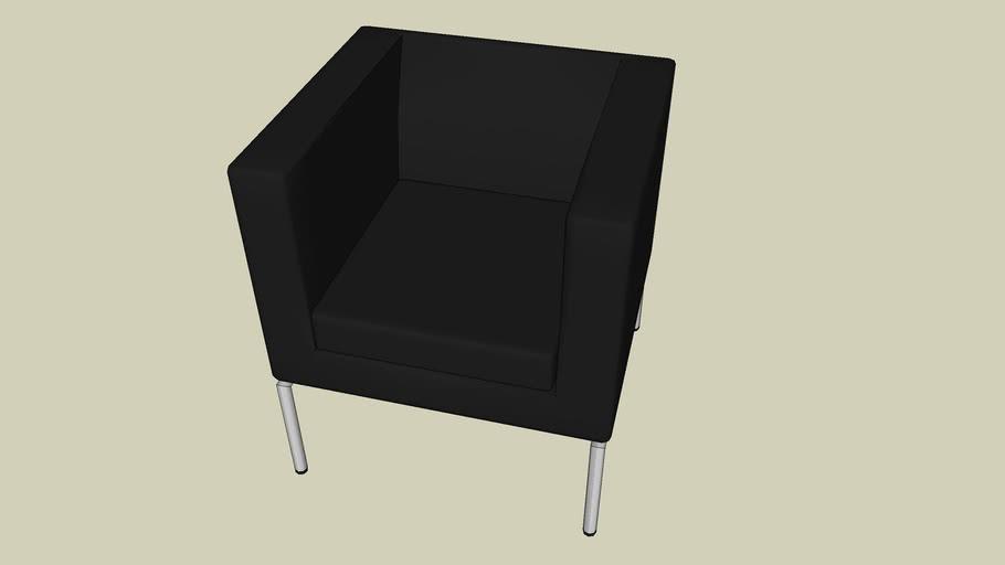 ikea fotel czarny