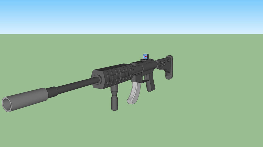 M4 Carbine ( Red dot sight & Silencer )