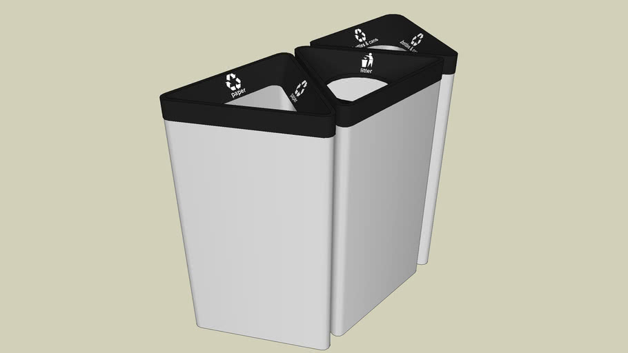 Forms+Surfaces® Triad™ Litter & Recycling Receptacles