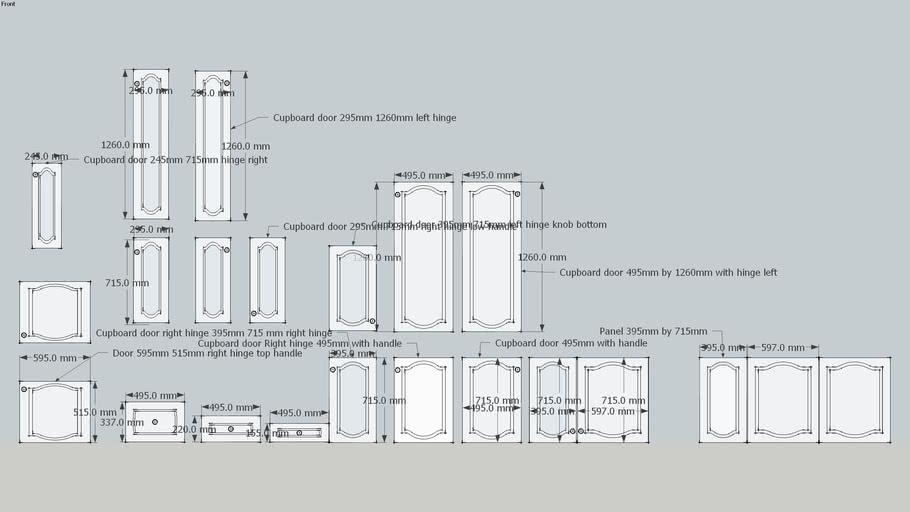 Door Panels Collection 1970s Schreiber Wood Textured Melamine Kitchen 3d Warehouse