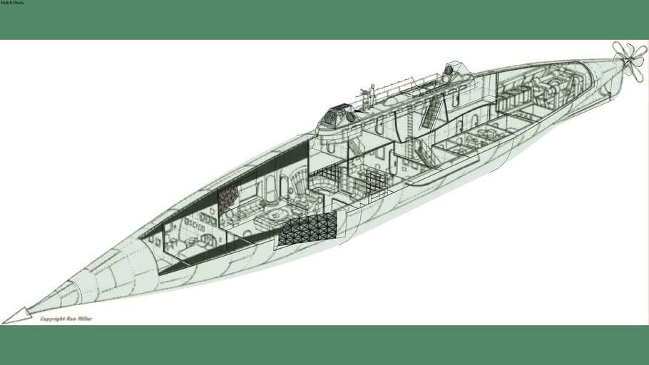 Jules Verne's Nautilus Cutaway