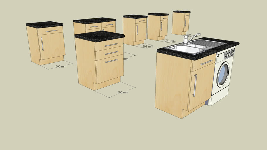 Howdens Greenwich Maple Kitchen Units