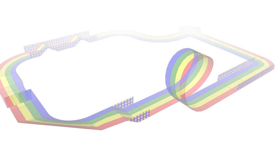 Simple Race Track Based on Rainbow Road Theme
