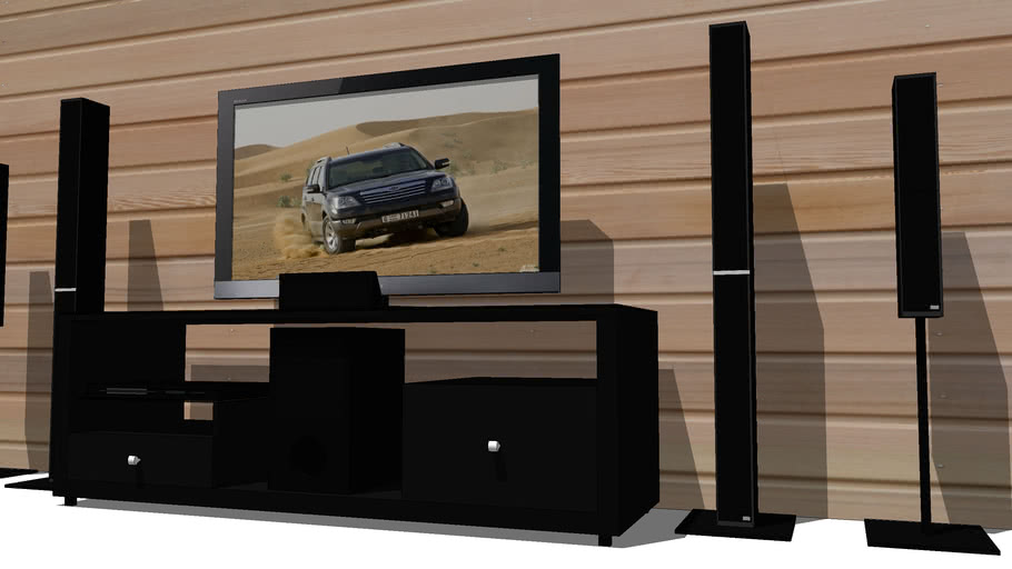 Lcd Sony [EX500-Home theater DAV-DZ810] with table