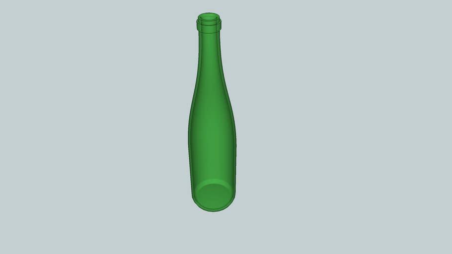 Bouteille de vin d'Alsace