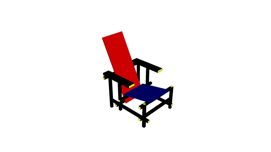 Red and Blue chair Rietveld