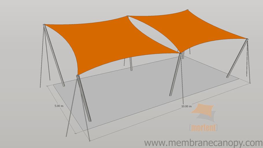 Membrane canopy - Shade sails model