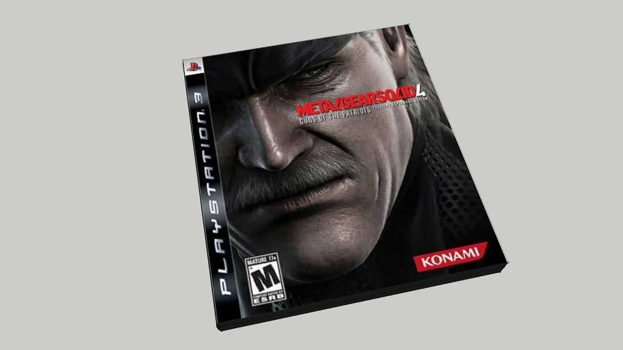 Metal Gear Solid 4 PS3 in box.