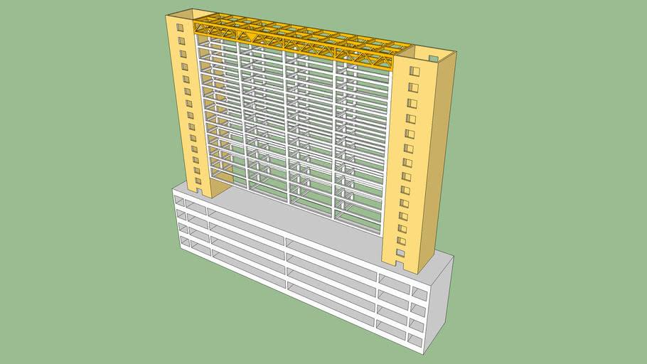 Suspended Floor Tall Buildings