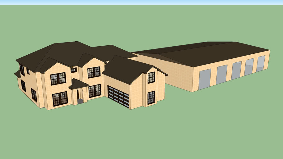 House with 5 Car Garage!