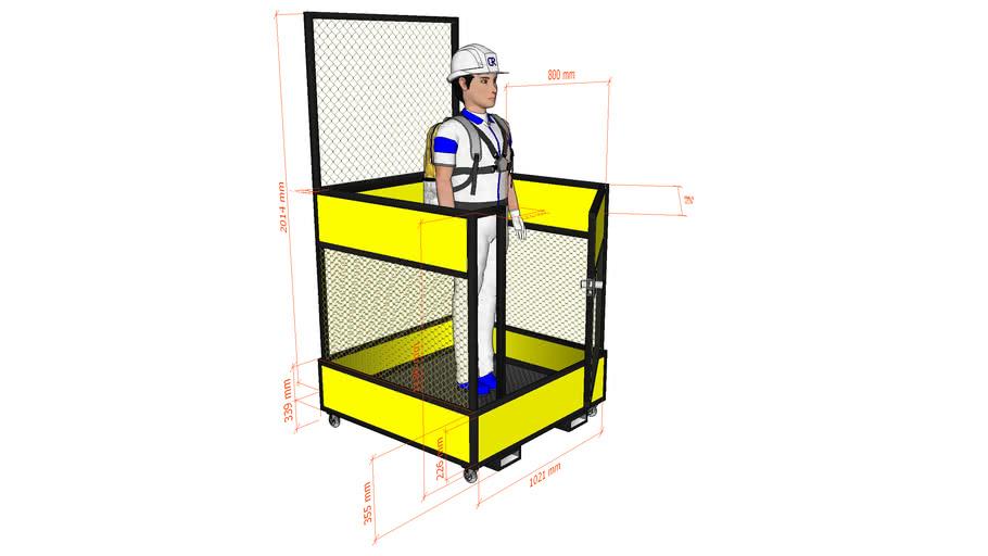Guarda corpo para empilhadeira