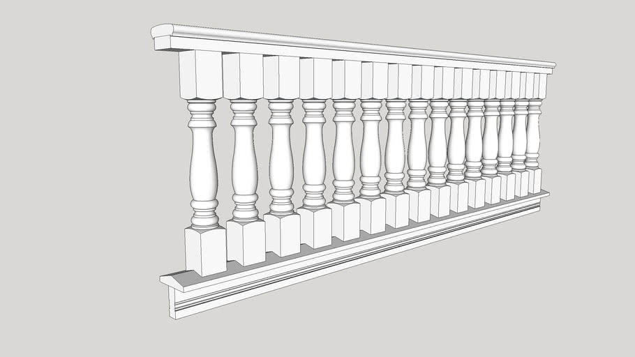 """""""Classic"""" Porch Balustrade: 6"""" rail, 3 1/2"""" spindles by American Porch LLC"""
