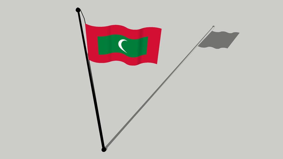 Flag of Maldives - ދިދަ ދިވެހިރާއްޖެ