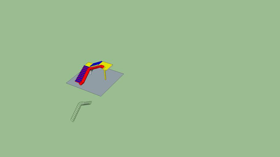 Escada com Escorregador