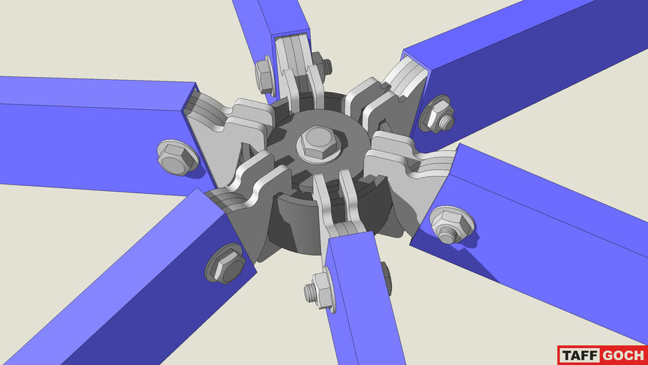 Geodesic dome hub