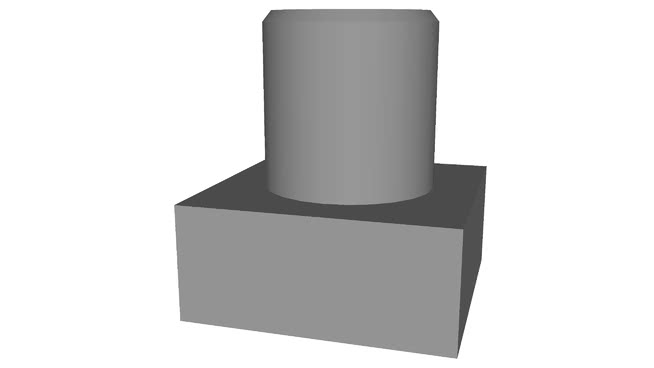 Square Head Bolts Low Poly