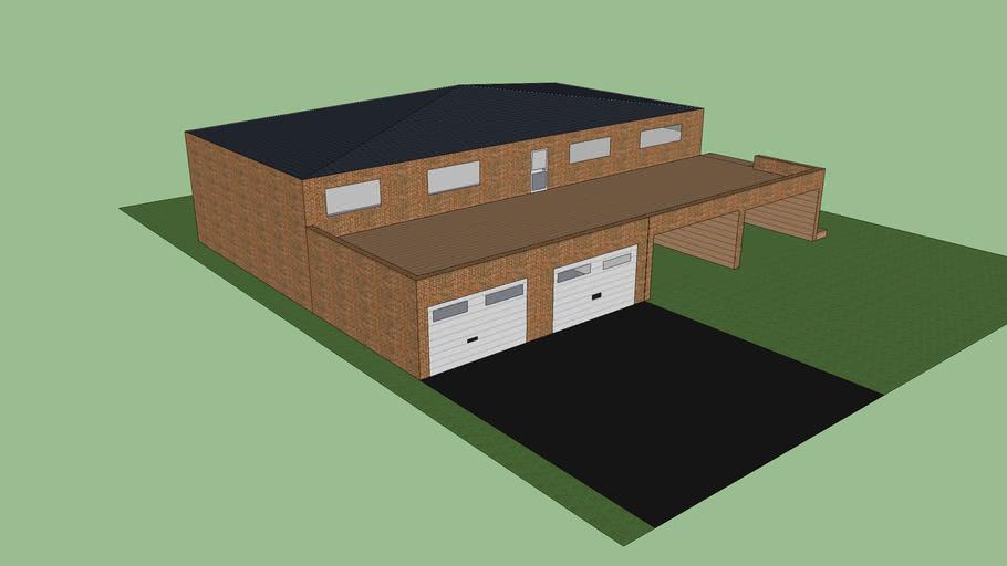 maison grande taille avec terrasse et 2 garage