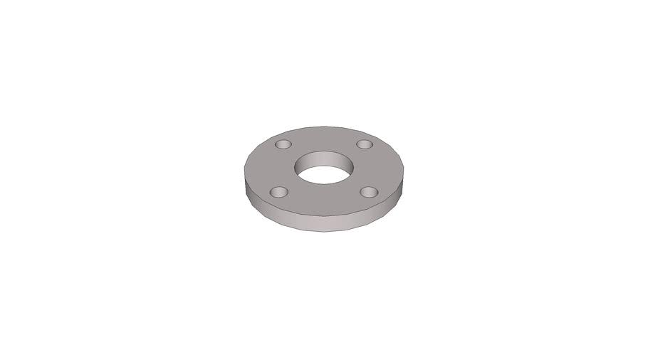 Flange, Aluminium acc. to EN 485, EN AW 5754, slip-on, Typ01, PN10/16/40, sim. to EN 1092-1