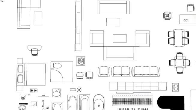 2D Furniture Plan