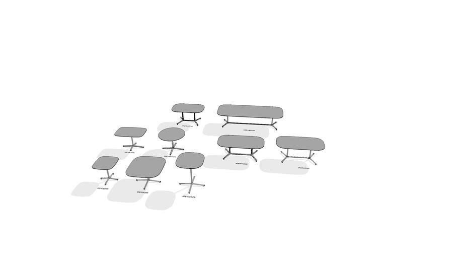 Bevy Pedestal Work Tables (Statement of Line)