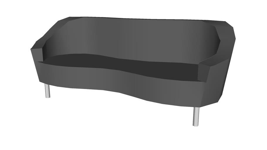 Wavy modern couch