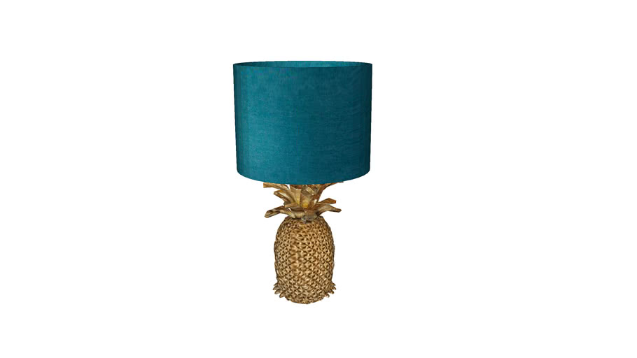 52773 Table Lamp Pineapple Gold