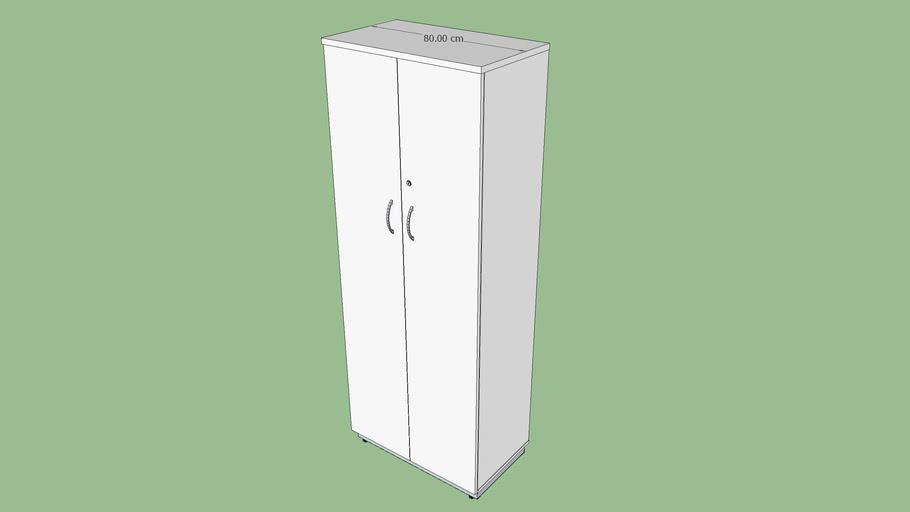 Armário extra alto 80 cm porta de giro